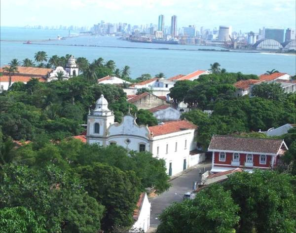 View of Olinda Looking Toward Recife
