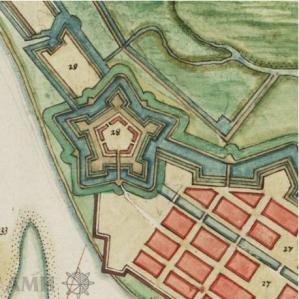 Map of Forte Cinco Pontas 1665